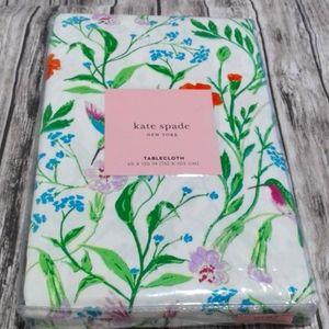 Kate Spade hummingbird floral tablecloth